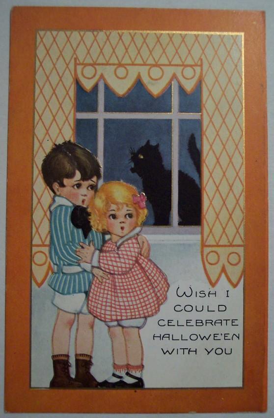 Postal Halloween vintage 129
