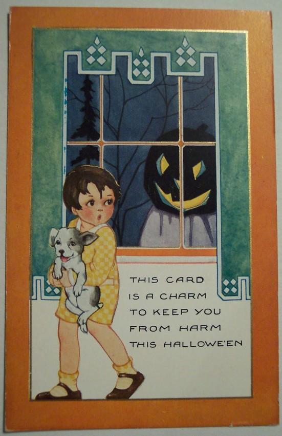 Postal Halloween vintage 130