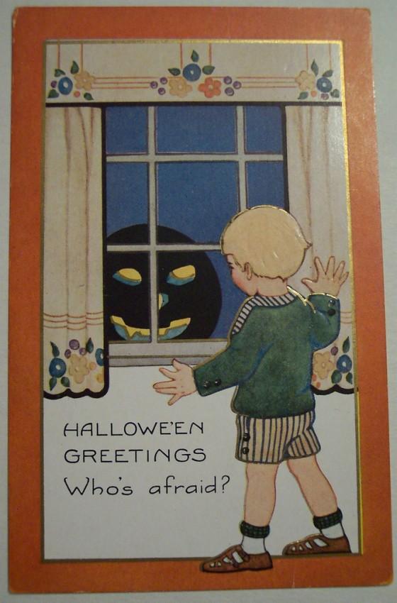 Postal Halloween vintage 131