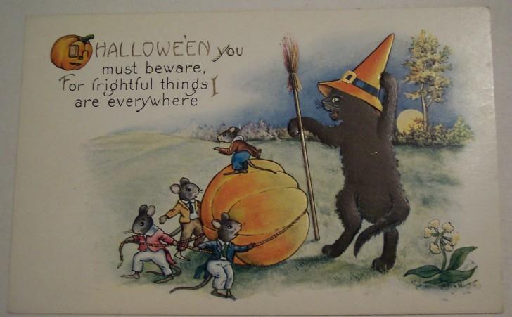 Postal Halloween vintage 132