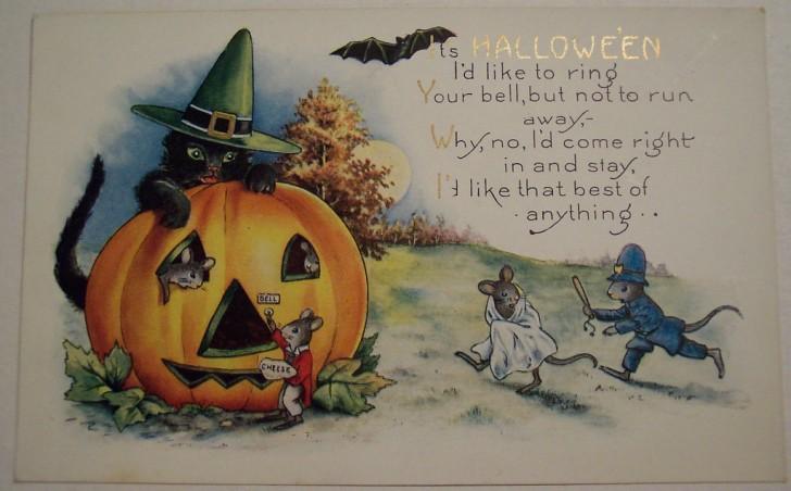 Postal Halloween vintage 133