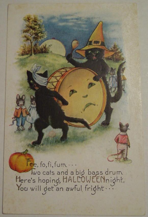 Postal Halloween vintage 134