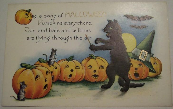 Postal Halloween vintage 135