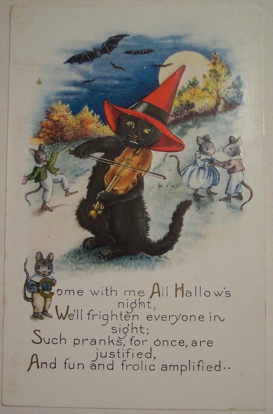 Postal Halloween vintage 136