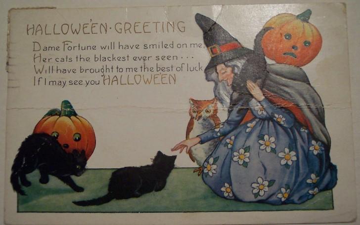 Postal Halloween vintage 137