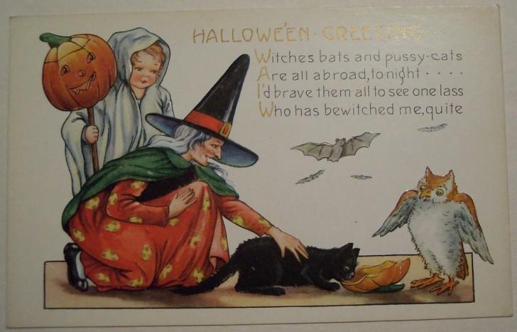 Postal Halloween vintage 138