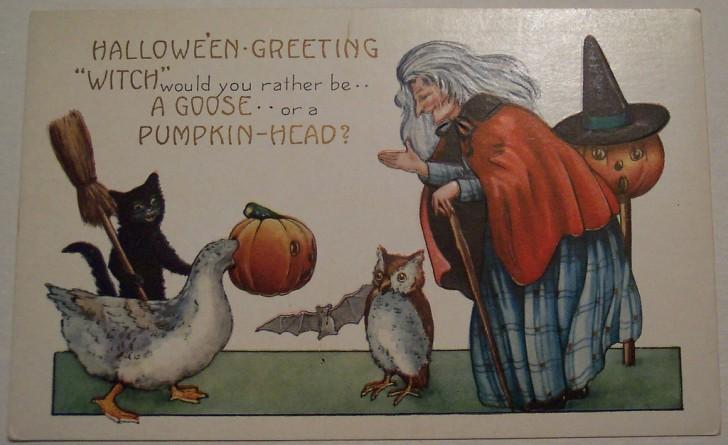 Postal Halloween vintage 140