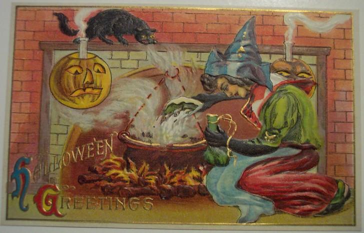 Postales Halloween retro 008