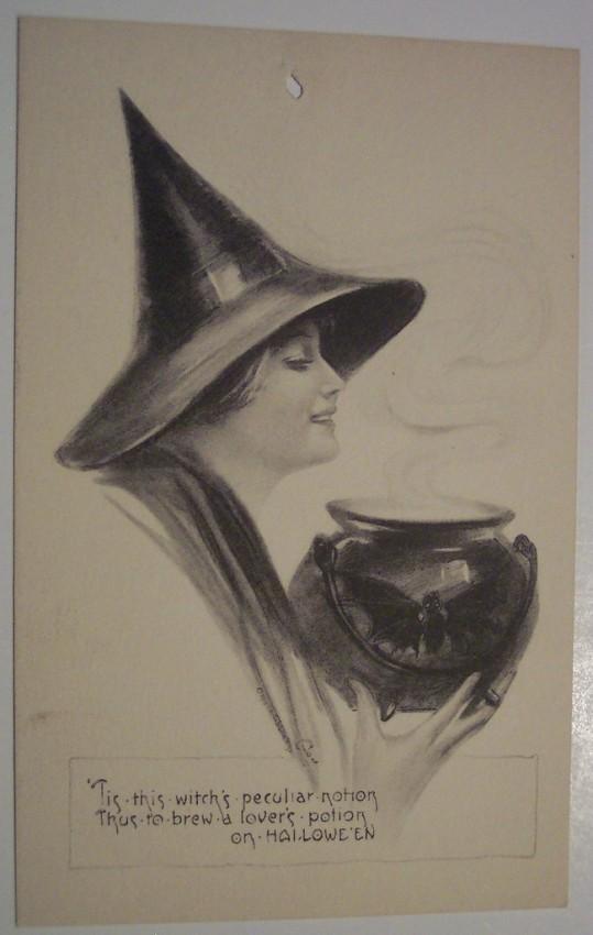 Postales Halloween retro 012