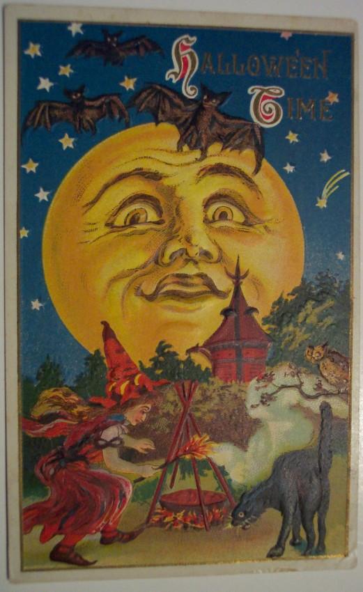 Postales Halloween retro 021