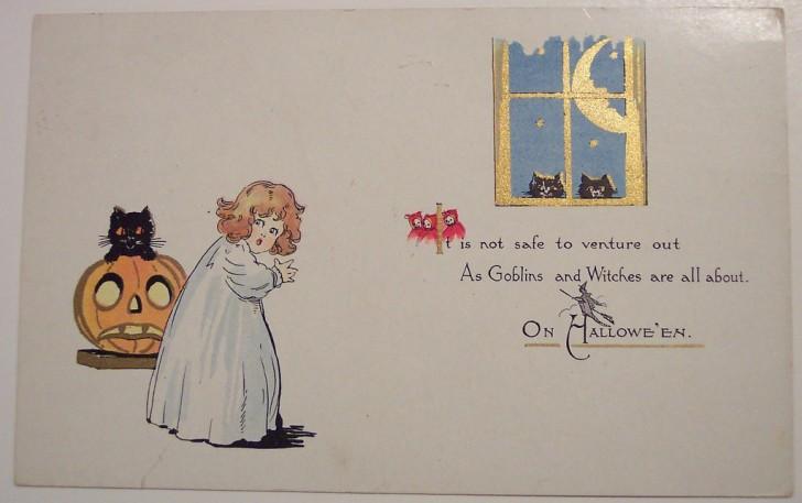 Postales Halloween retro 022