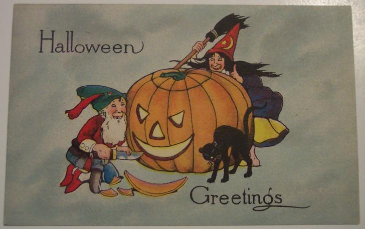 Postales Halloween retro 034