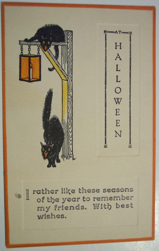 Postales Halloween retro 035