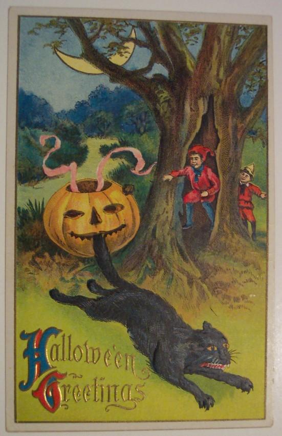 Postales Halloween retro 043