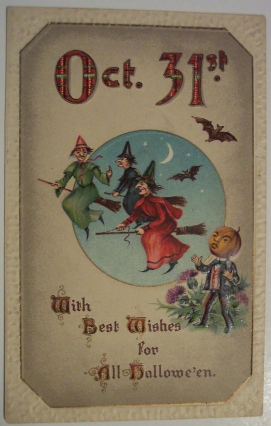 Postales Halloween retro 046
