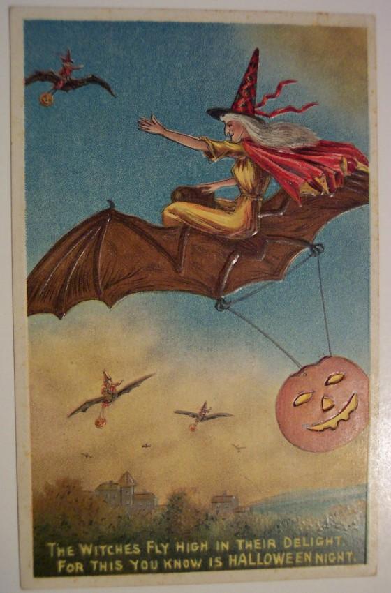 Postales Halloween retro 054