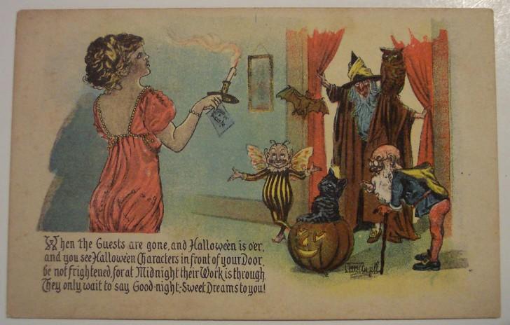 Postales Halloween retro 058