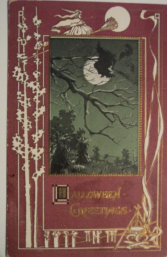 Postales Halloween retro 061