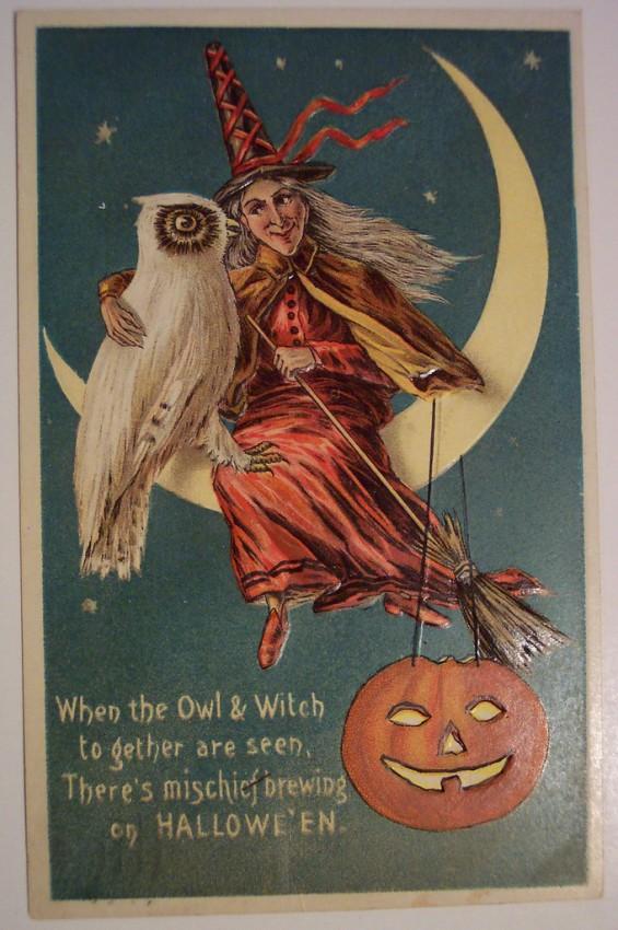 Postales Halloween retro 068