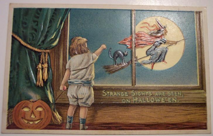 Postales Halloween retro 070