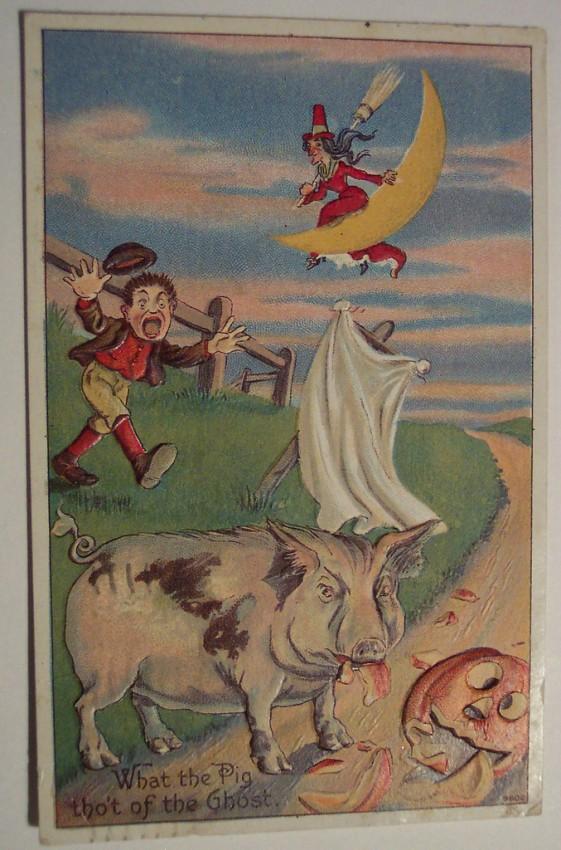 Postales Halloween retro 071