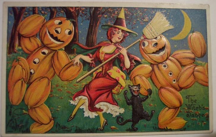 Postales Halloween retro 076