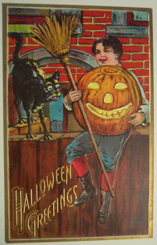 Postales Halloween retro 080