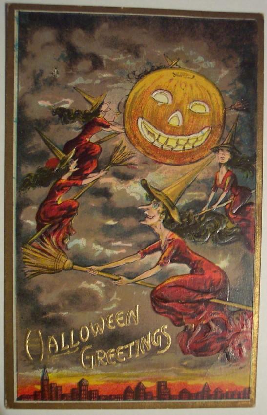 Postales Halloween retro 081