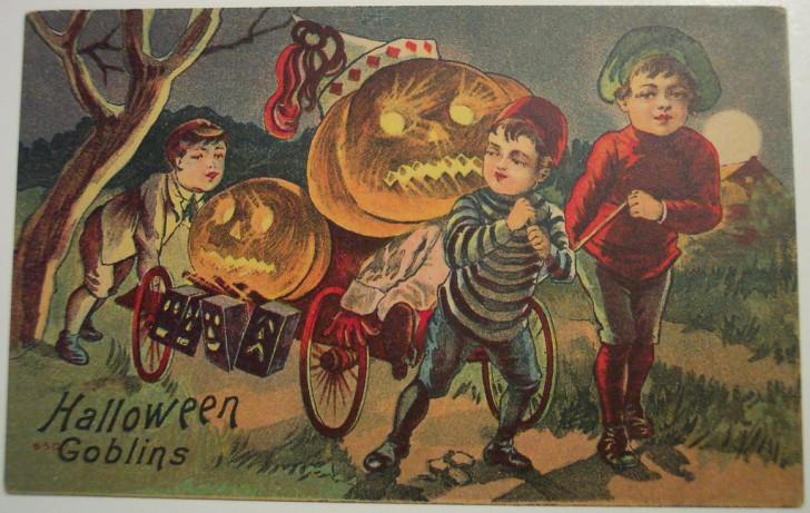 Postales Halloween retro 090