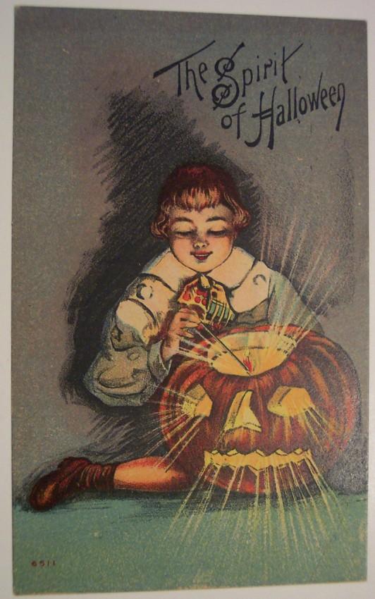 Postales Halloween retro 095