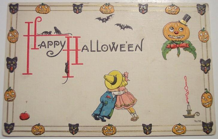 Postales Halloween retro 098