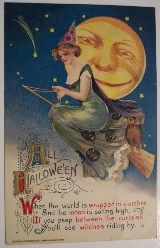 Postales Halloween retro 106