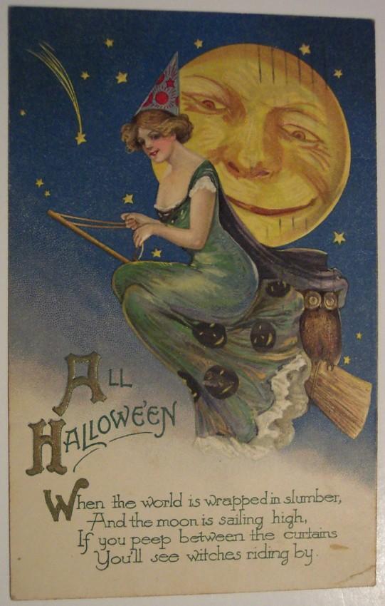 Postales Halloween retro 107
