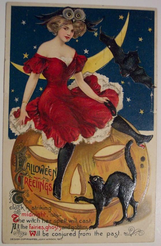 Postales Halloween retro 112