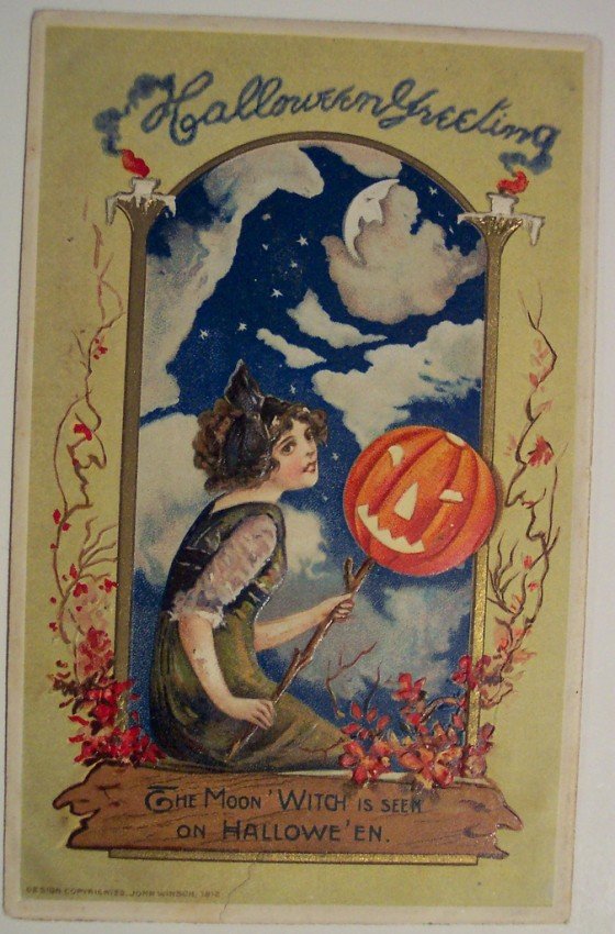 Postales Halloween retro 113