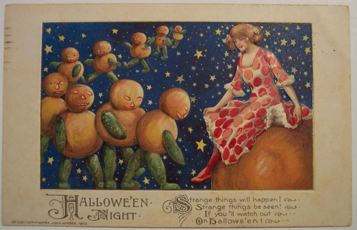 Postales Halloween retro 115
