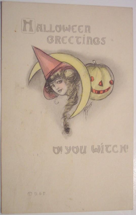 Postales Halloween retro 133