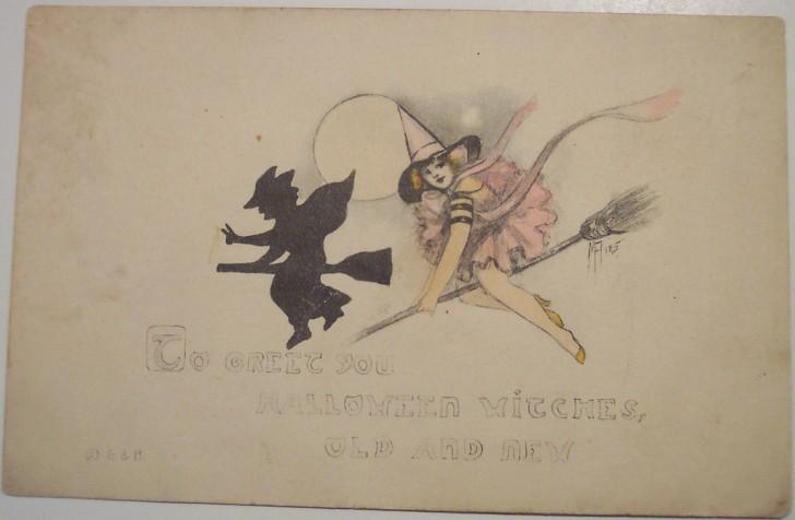 Postales Halloween retro 134