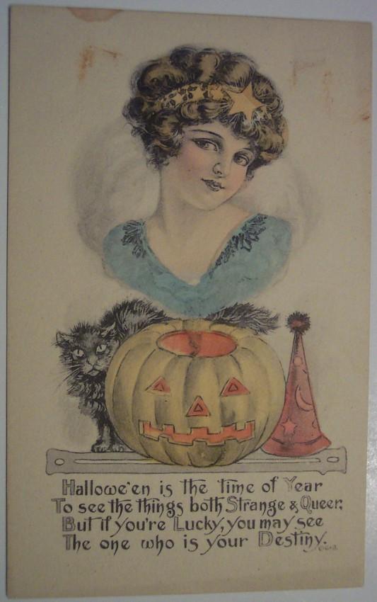 Postales Halloween retro 135