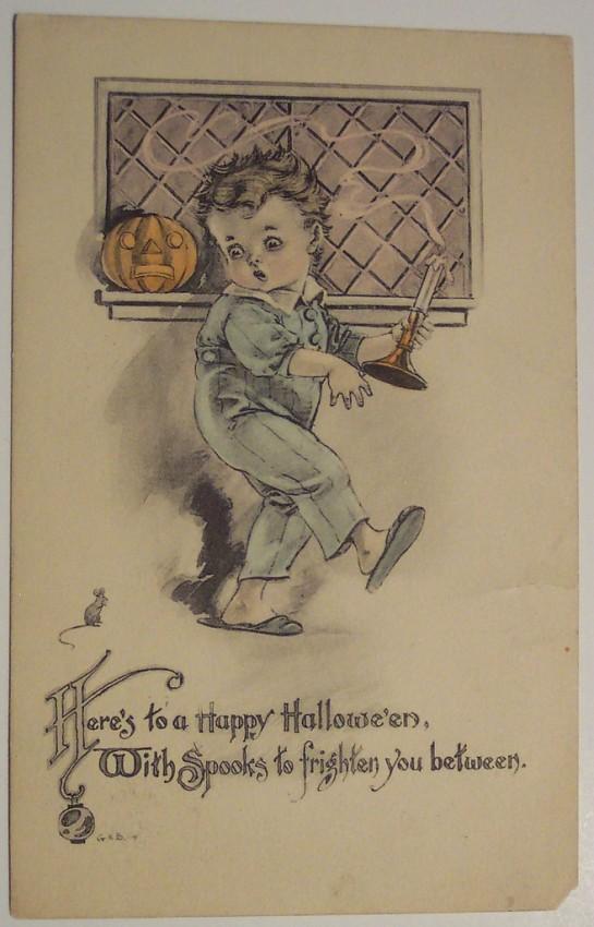 Postales Halloween retro 136
