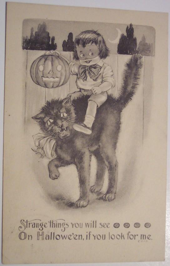 Postales Halloween retro 137