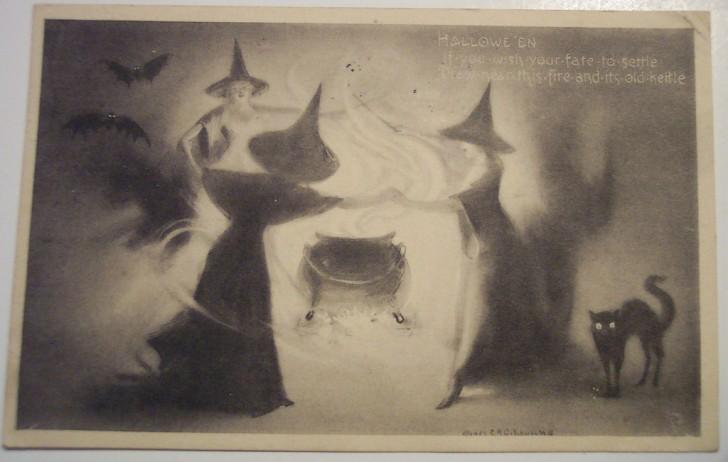 Postales Halloween retro 140