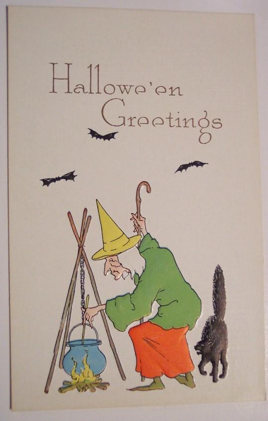 Postales Halloween retro 142
