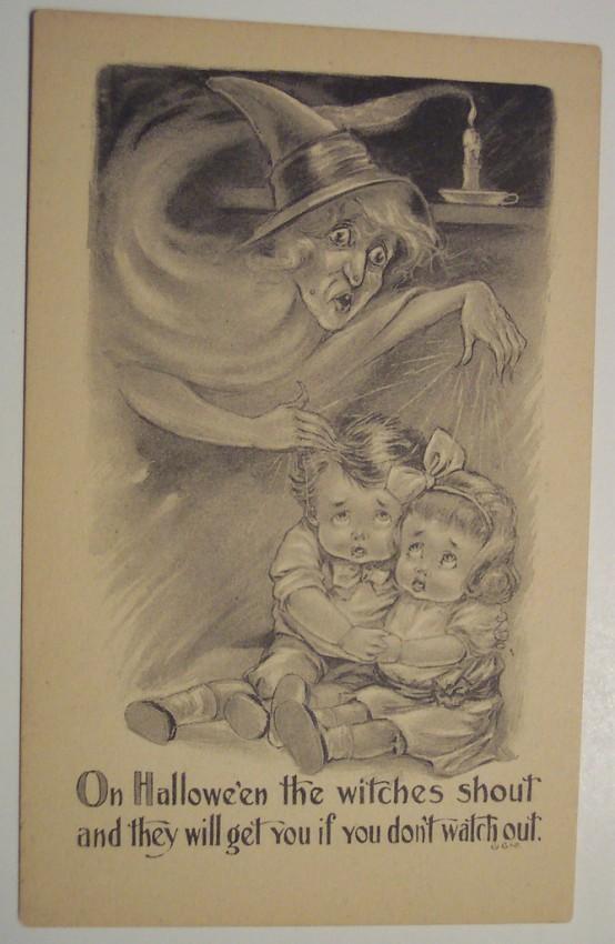 Postales Halloween retro 144