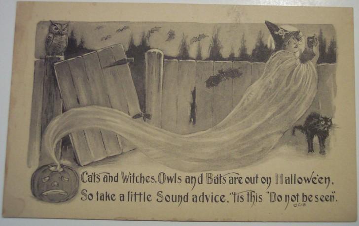 Postales Halloween retro 148