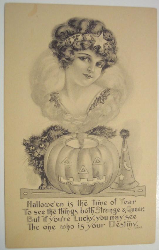 Postales Halloween retro 149