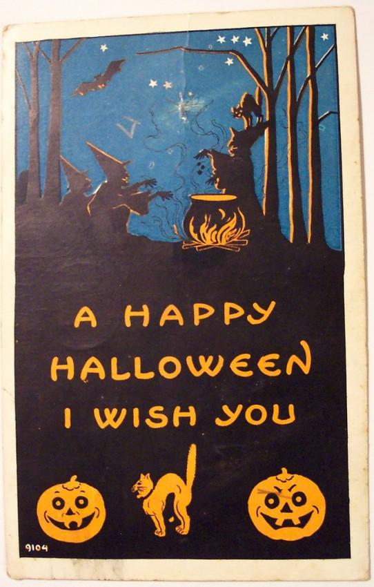 Postales Halloween vintage 027