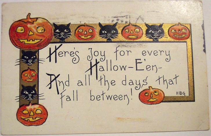 Postales Halloween vintage 080