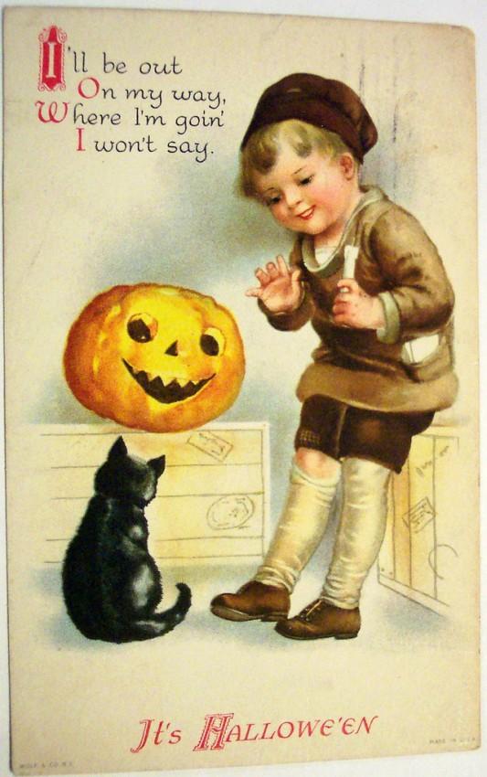 Postales Halloween vintage 082