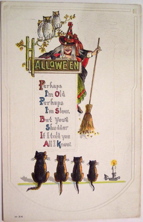 Postales Halloween vintage 096
